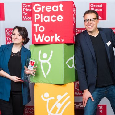 "Prämierungsveranstaltung ""Deutschlands Beste Arbeitgeber 2019"" und Austauschforum Best-Practices von Great Place to Work® am 14.3.2019 in Berlin. Foto: Barbara König für Great Place to Work®"